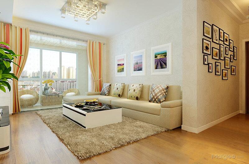 90平米小户型装修效果图 现代简约两室一厅效果图