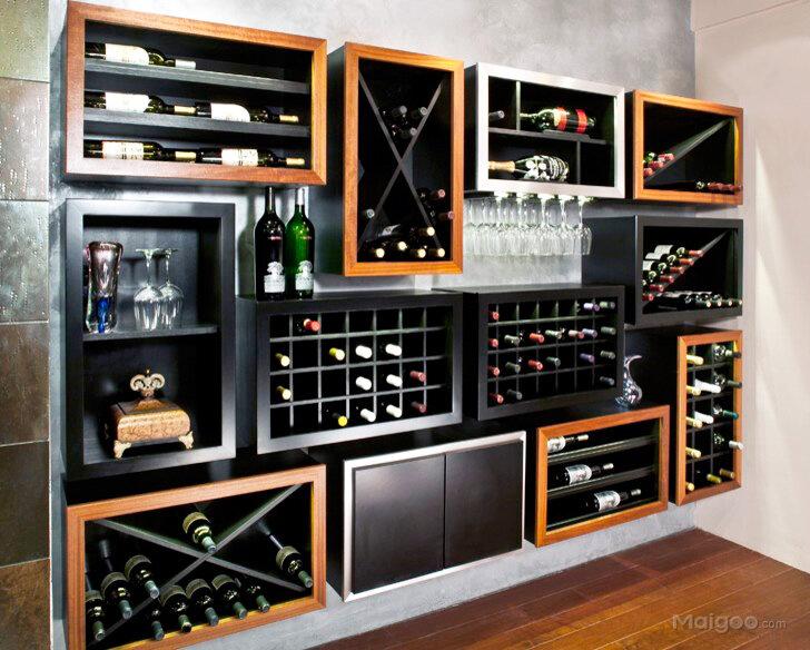 现代美式风格家庭贮藏室地下酒窖酒柜布置效果图欣赏(3/8)图片