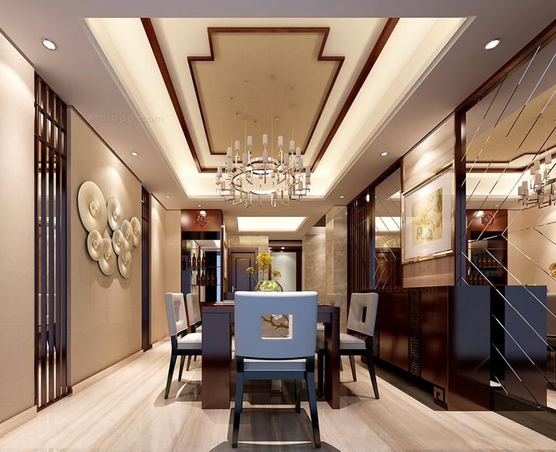 中式风格别墅餐厅装修效果图大全图片