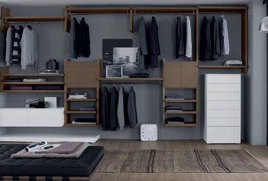 开放式衣柜效果图 开放式衣柜尺寸有哪些图片
