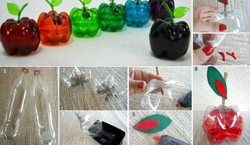 塑料瓶手工制作大全 废旧塑料瓶巧妙变身图片