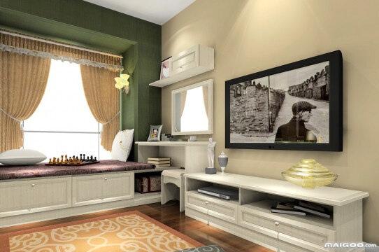 【转角飘窗】转角飘窗装修效果图 小空间变身大乐园图片
