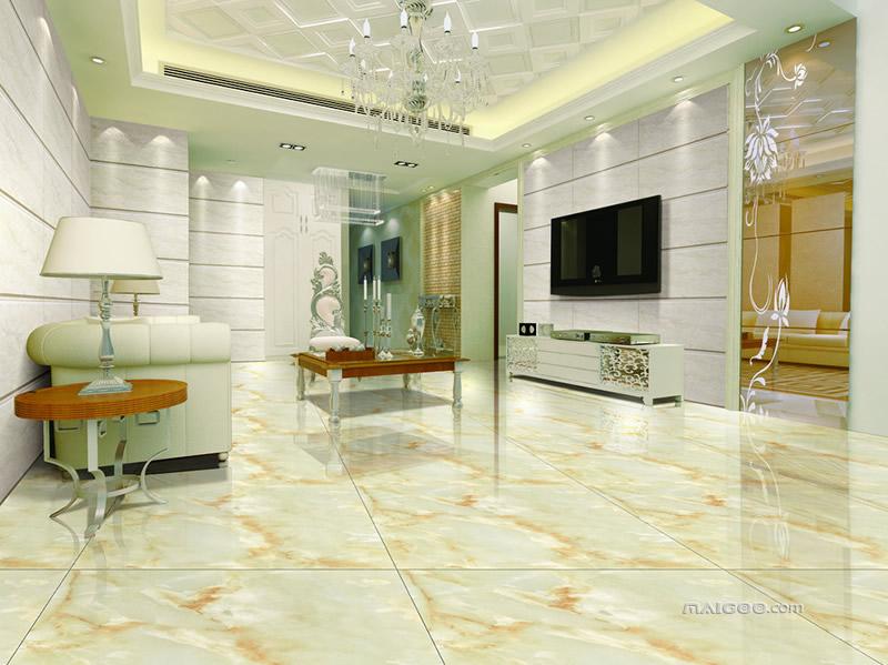 地面铺装效果图大全 客厅瓷砖铺贴效果图欣赏图片
