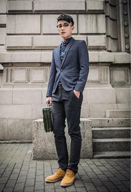 男士休闲西装搭配什么鞋子 休闲西装怎么搭配裤子有型图片