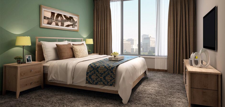 现代简约风卧室室内设计效果图