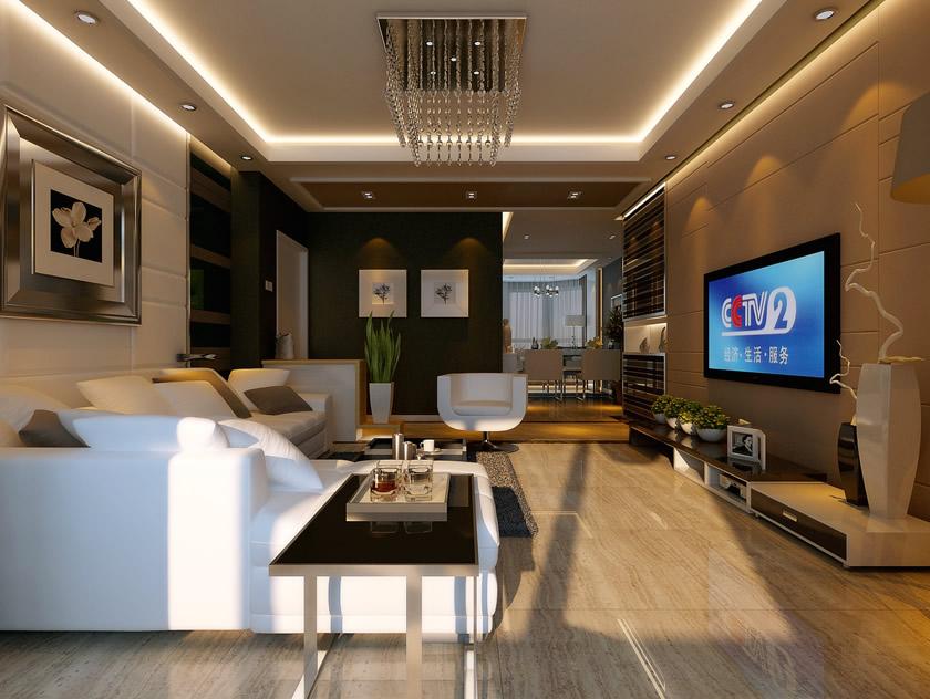现代简约客厅装修效果图 现代风格客厅效果图大全