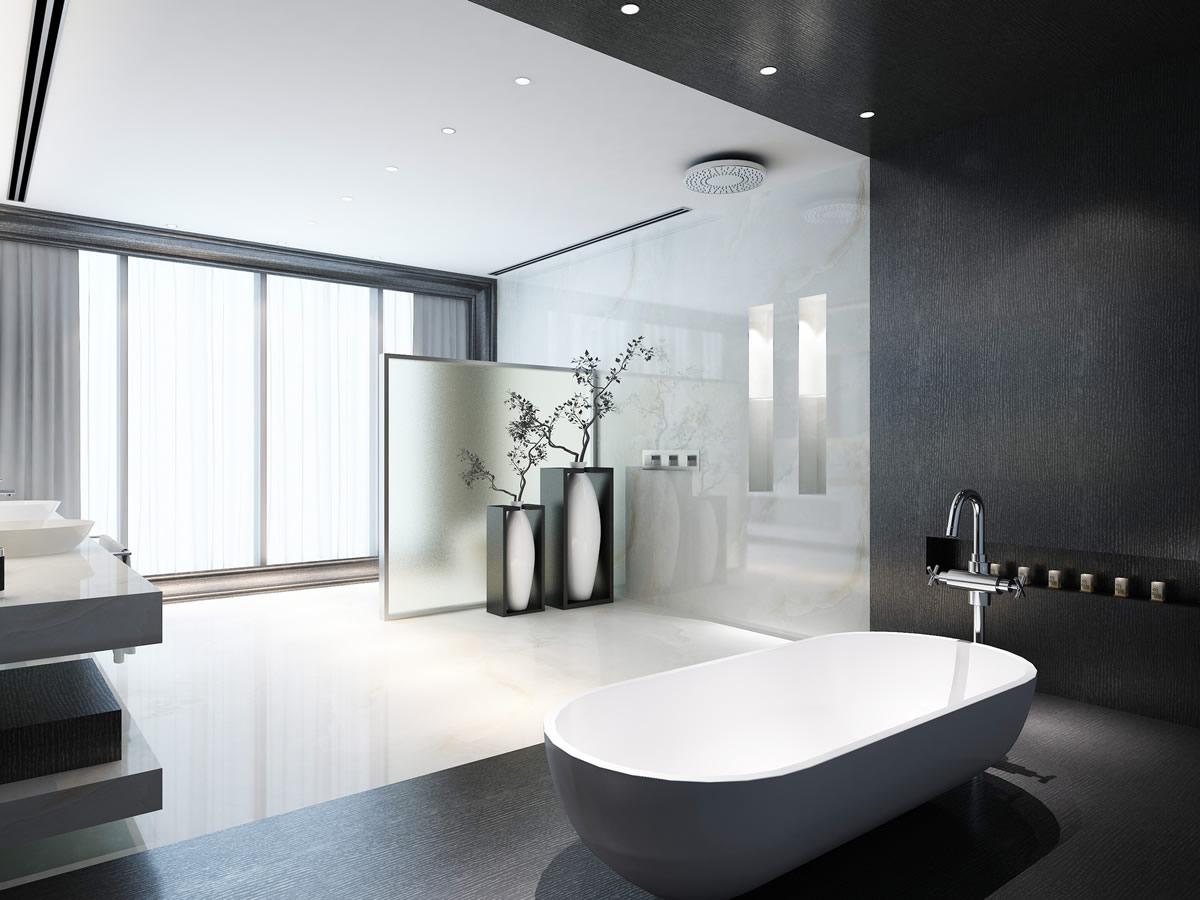 现代卫生间装修效果图02干净舒适的卫浴空间→十大