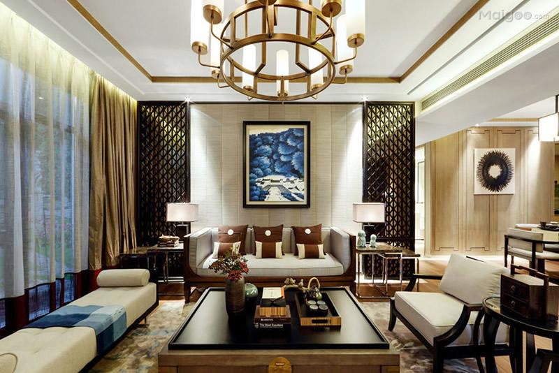 新中式风格婚房装修效果图 给小夫妻生活增添古典浪漫情调高清图片