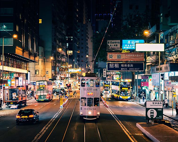 香港街头夜景
